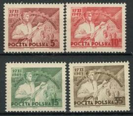 Polen, michel 539/42, xx