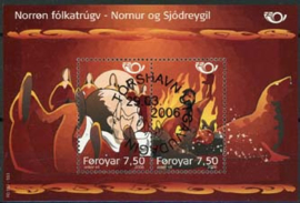 Faroer, michel blok 19, o