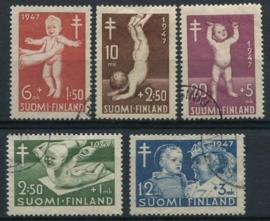 Finland, michel 341/45, o