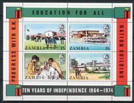 Zambia, michel blok 3, xx