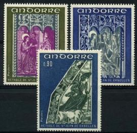 Andorra Fr., michel 242/44, xx