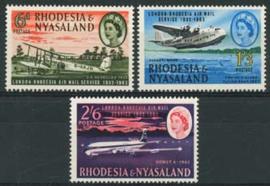 Rhodesie & Nyasaland, michel 42/44, xx
