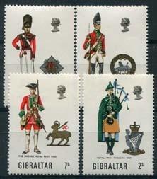Gibraltar, michel 237/40, xx