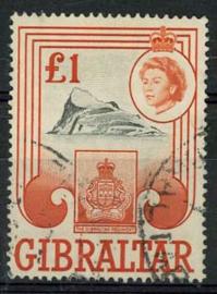Gibraltar, michel 162, o