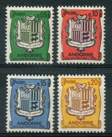 Andorra Fr., michel 164/67, xx