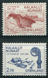 Groenland, michel 138/39, xx