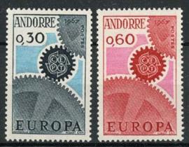 Andorra Sp., michel 199/200, xx