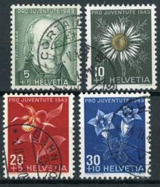 Zwitserland, michel 424/27, o