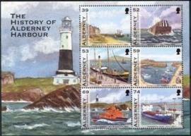 Alderney ,michel blok 31 , xx