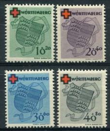Wurttemberg, michel 40/43,x