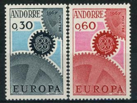 Andorra Fr., michel 199/200, xx