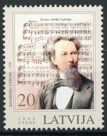 Letland, michel 637, xx