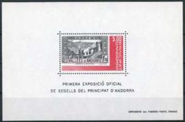 Andorra Fr., michel blok 1 , xx