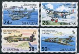 Gibraltar, michel 822/25, xx