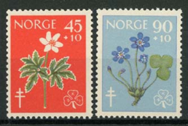 Noorwegen, michel 438/39, xx