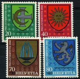 Zwitserland, michel 1187/90,xx