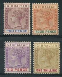 Gibraltar , michel 33/36 , x
