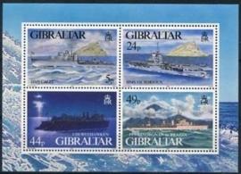 Gibraltar , michel blok 22 , xx