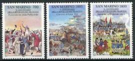 S.Marino, michel 1421/23, xx