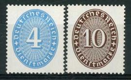 Duitse Rijk, michel D 130/31 x, xx