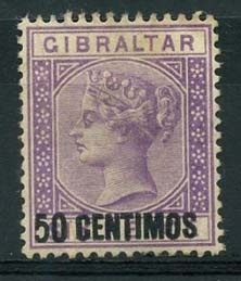 Gibraltar , michel 20, (x)