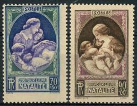 Frankrijk, michel 455/56, xx