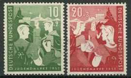 Bundespost, michel 153/54, xx