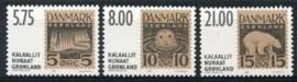 Groenland , michel 371/73 , xx