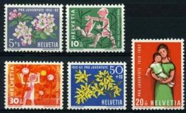 Zwitserland, michel 758/62,xx
