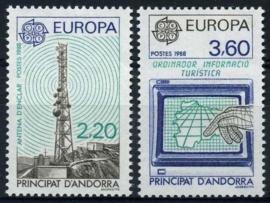 Andorra Fr., michel 390/91, xx