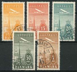 Denemarken, michel 217/21, o