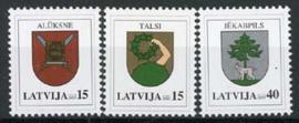 Letland, michel 628/30, xx