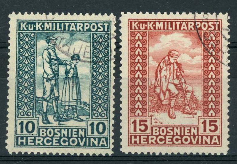 Bosnie Herz., michel 142/43, o