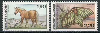 Andorra Fr., michel 382/83, xx