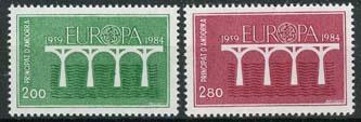 Andorra Fr., michel 350/51, xx