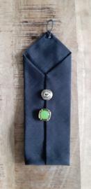 Opbergzakje / hoesje van oude stropdas 14 zwart