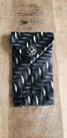 Opbergzakje / hoesje van oude stropdas 02 zwart