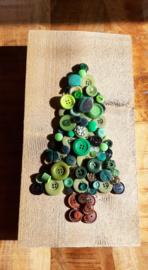 Steigerhout met knopen kerstboom 08