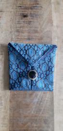 Opbergzakje / hoesje van oude stropdas 15 blauw
