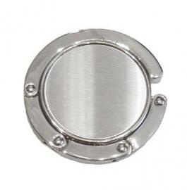 Tassenhaak rond zilverkleur