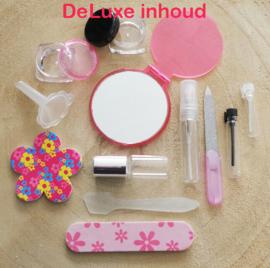 Make-up tasje Zwart en wit (rits) met inhoud