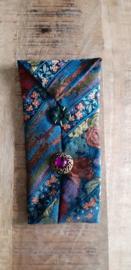 Opbergzakje / hoesje van oude stropdas 04 multicolor