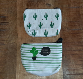 Make-up tasje Cactus Stay Away (rits) met inhoud
