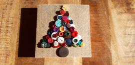 Steigerhout met knopen kerstboom 06