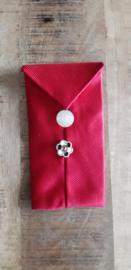 Opbergzakje / hoesje van oude stropdas 11 rood