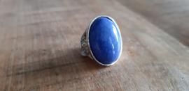 Ring blauw, maat 16