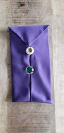 Opbergzakje / hoesje van oude stropdas 12 paars
