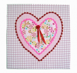 """Textielschilderijtje """"Tuintje in mijn hart"""""""
