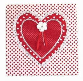 """Textielschilderijtje """"Happy heart"""""""
