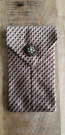 Opbergzakje / hoesje van oude stropdas 10 oranje